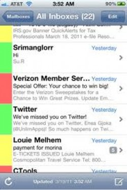 Colorize Your Mail With iPhone's Color Mail App