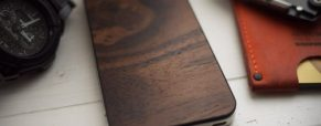 Material 6's wooden back covers for iPhone