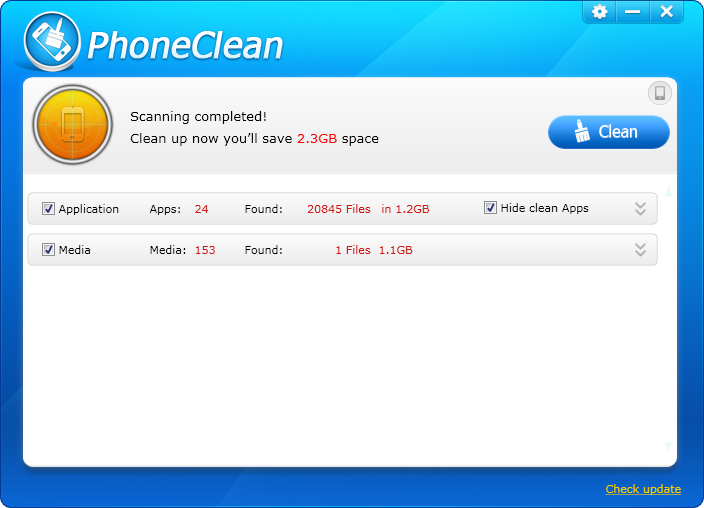 PhoneClean for iPhone